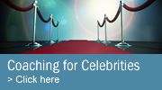 Media and presentation coaching for celebrities
