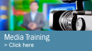 Media training for effective TV, radio, print and online communications