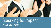 Elevate your speaking skills - attend a Speaking for Impact seminar