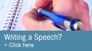 Professional Speechwriting Services